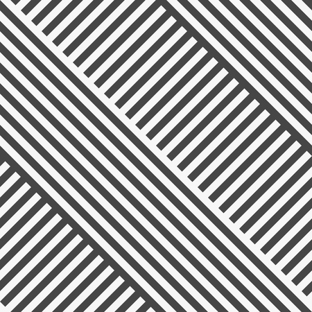 Illustration for Seamless Diagonal Stripe Pattern. Vector Black and White Background - Royalty Free Image