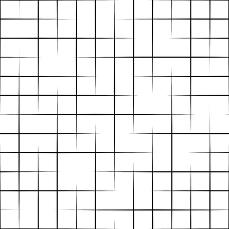 Illustration for Seamless Grid Pattern. Vector Black and White Background. Regular Texture - Royalty Free Image