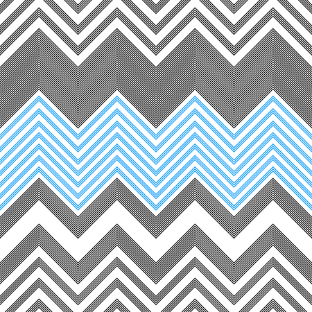 Illustration for Seamless ZigZag Pattern. Abstract Background. Vector Regular Texture - Royalty Free Image