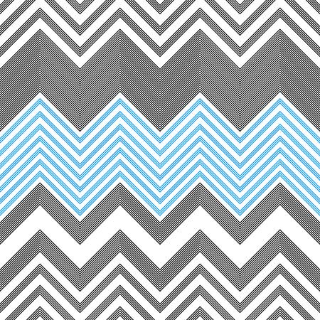 Illustration pour Seamless ZigZag Pattern. Abstract Background. Vector Regular Texture - image libre de droit