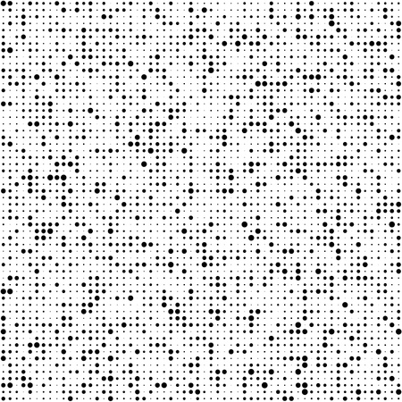 Illustration pour Seamless Circle Pattern. Vector Black and White Background - image libre de droit
