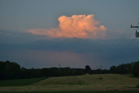 Puffy cloud before a storm