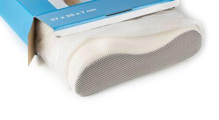 Foto de Pillow memory foam for healthy sleep - Imagen libre de derechos