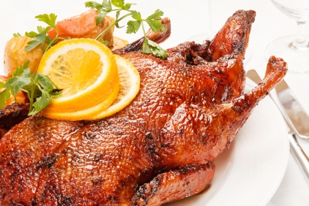Photo for Christmas roast goose  - Royalty Free Image