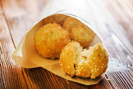 Foto de Arancini - fried rice balls - Imagen libre de derechos
