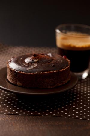 Photo pour chocolate tart - image libre de droit