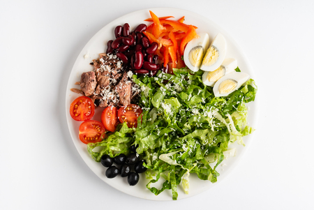 Photo for Buddha Bowl with tuna, egg and vegetables - Royalty Free Image