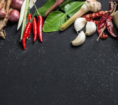 Foto de Beautiful thai food on  black background - Imagen libre de derechos