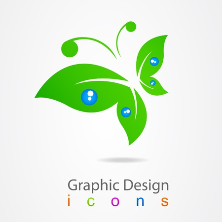 graphic design logo butterfly