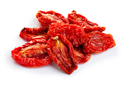 Photo pour Sun dried tomatoes isolated on white with smooth shadow - image libre de droit