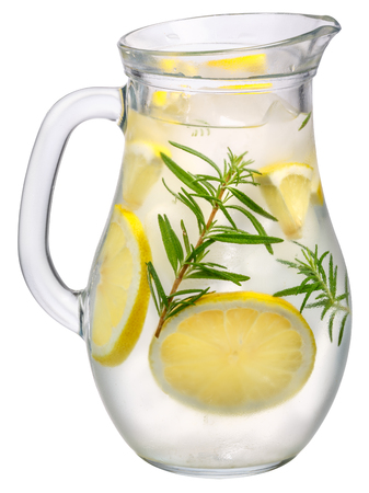 Photo for Jug of rosemary lemon detox water or lemonade - Royalty Free Image