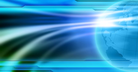 Photo pour News background wallpaper. Abstract empty blue background for global news image. - image libre de droit