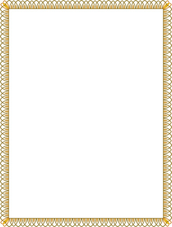 Illustration pour Simple style thin frame, Colored - image libre de droit