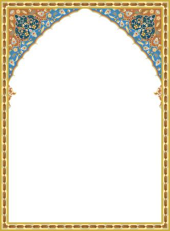 Ilustración de Detailed oriental vector frame - Imagen libre de derechos