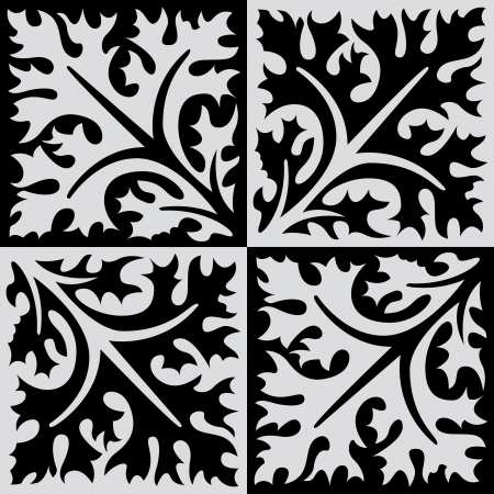 Illustration pour Seamless pattern stock vector, use for tiled background, Grayscale - image libre de droit
