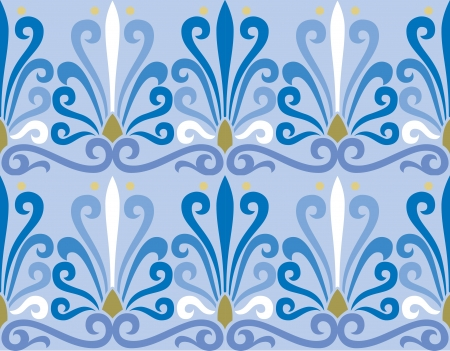 Illustration pour Seamless pattern stock vector, use for tiled background, Colored - image libre de droit