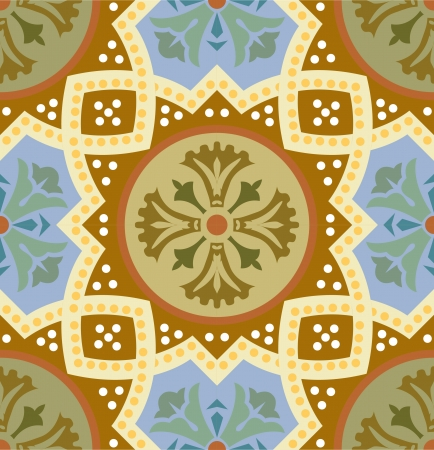 Ilustración de Seamless pattern stock vector, use for tiled background, Colored - Imagen libre de derechos