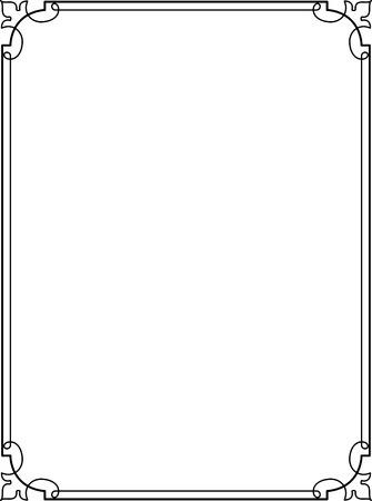 Illustration pour Simple lines, border frame, vector design - image libre de droit