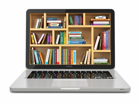 Foto de E-learning education or internet library - Imagen libre de derechos