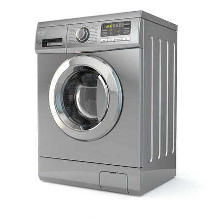 Foto per Washing machine on white isolated background. 3d - Immagine Royalty Free