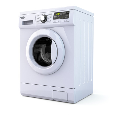 Photo pour Washing machine on white isolated background. 3d - image libre de droit