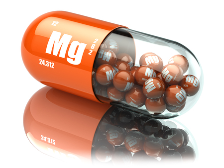 Photo for Manganese magnesium Mg element pill. Dietary supplements. Vitamin capsules. 3d illustration - Royalty Free Image