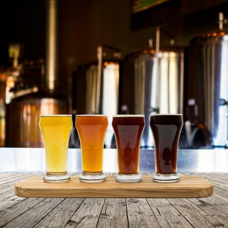 Photo pour Beer Flight - image libre de droit