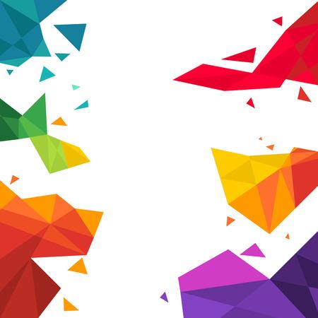 Photo pour vector illustration of triangle  Multicolored Background - image libre de droit