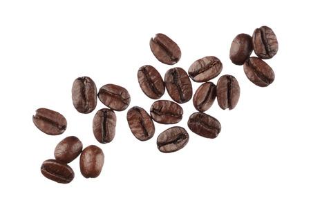 Foto de Coffee beans isolated on white background close up - Imagen libre de derechos