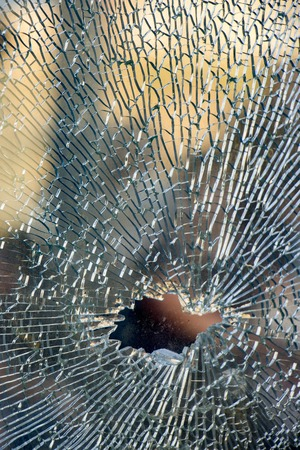 Photo for broken tempered glass closeup , background of glass was smashed - Royalty Free Image