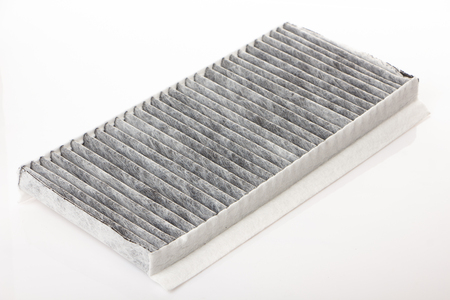 Photo for worn cabin air conditioner filter of car close up - Royalty Free Image