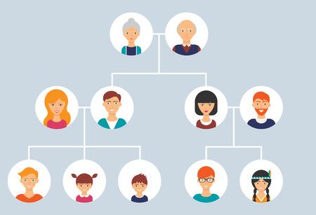 Photo pour Family tree. Vector illustration, flat style - image libre de droit
