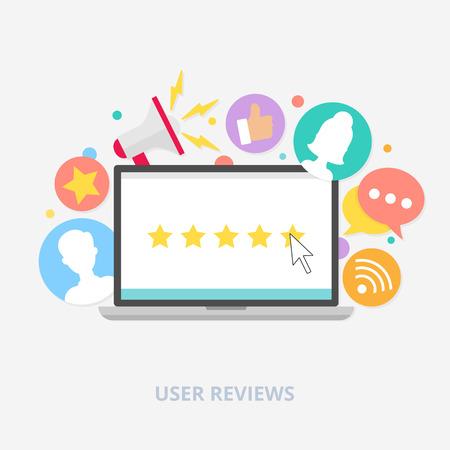Illustration pour User reviews concept, vector illustration - image libre de droit