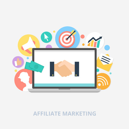 Ilustración de Affiliate marketing concept vector illustration - Imagen libre de derechos