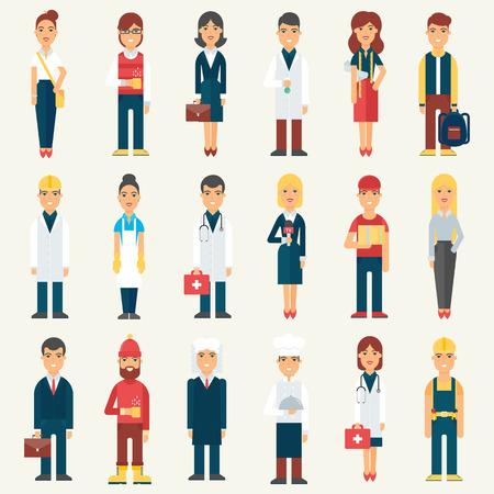 Illustration pour People, professionals, occupation. Vector illustration - image libre de droit