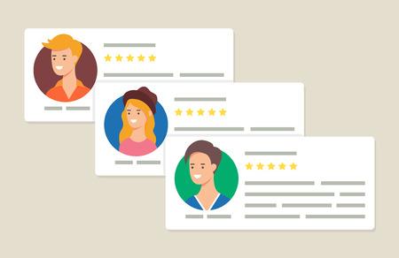 Illustration pour User reviews and feedback concept vector illustration - image libre de droit