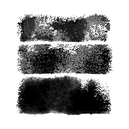Ilustración de Vector Watercolor Wide Lite Brushes Set - Imagen libre de derechos