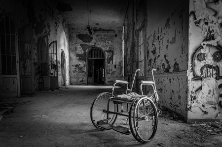 Photo for Volterra, Italy - September 2016: Abandoned psychiatric hospital in Volterra. It was home to more than 6,000 mental patients but was shut down in 1978 because its practices were deemed cruel. The hospital was called 'the place of no return' because patien - Royalty Free Image