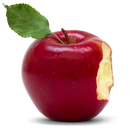 Photo for red apple with bite  - Royalty Free Image