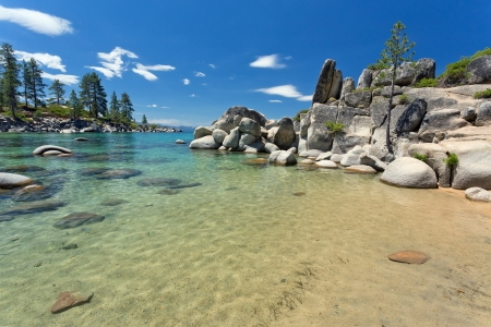 Lake Tahoe beach mural