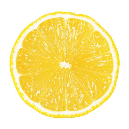 Photo pour slice of lemon isolated on white - image libre de droit