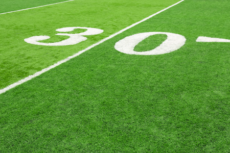 30 yard line on Football field mural