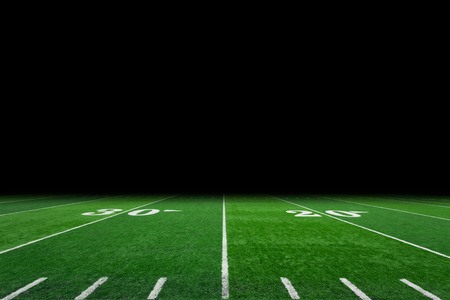 Foto de Football field with copy space - Imagen libre de derechos