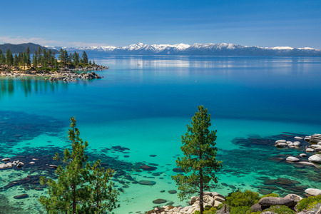 Turquoise waters of Lake Tahoe