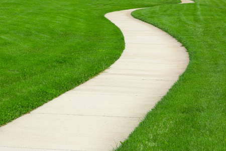Photo for Pathway through green lawn - Royalty Free Image