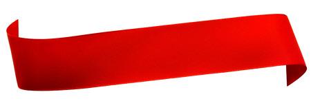 Photo pour Red ribbon isolated on white - image libre de droit