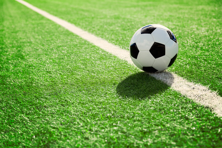 Photo for Soccer ball on soccer field - Royalty Free Image