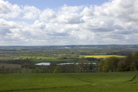 A view of the Kent countryside with a cloudy sky