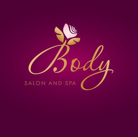 Illustration pour Vector illustration with abstract flower symbol. Logo design.  For beauty salon, spa center, health clinic or flower shop. - image libre de droit