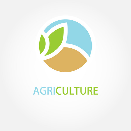 Ilustración de Vector sign Organic farming Greengrocer. - Imagen libre de derechos